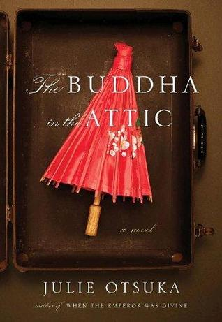 Book jacket art: red umbrella propped against wall inside a brown wooden cabinet.