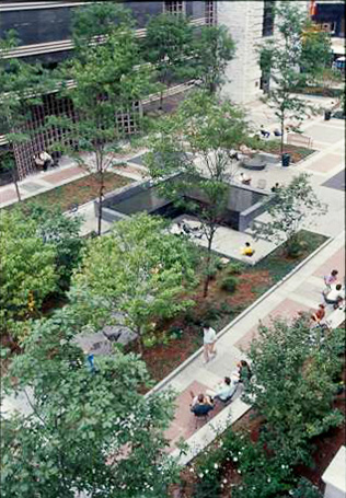 Eastman Reading Garden: Aerial View