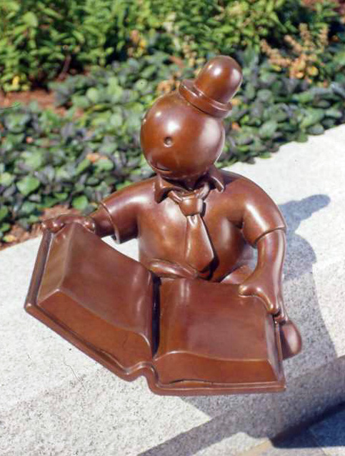 Eastman Reading Garden: Bronze Figure