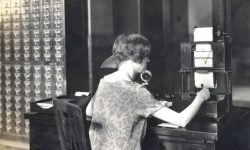 Library's Telautograph machine