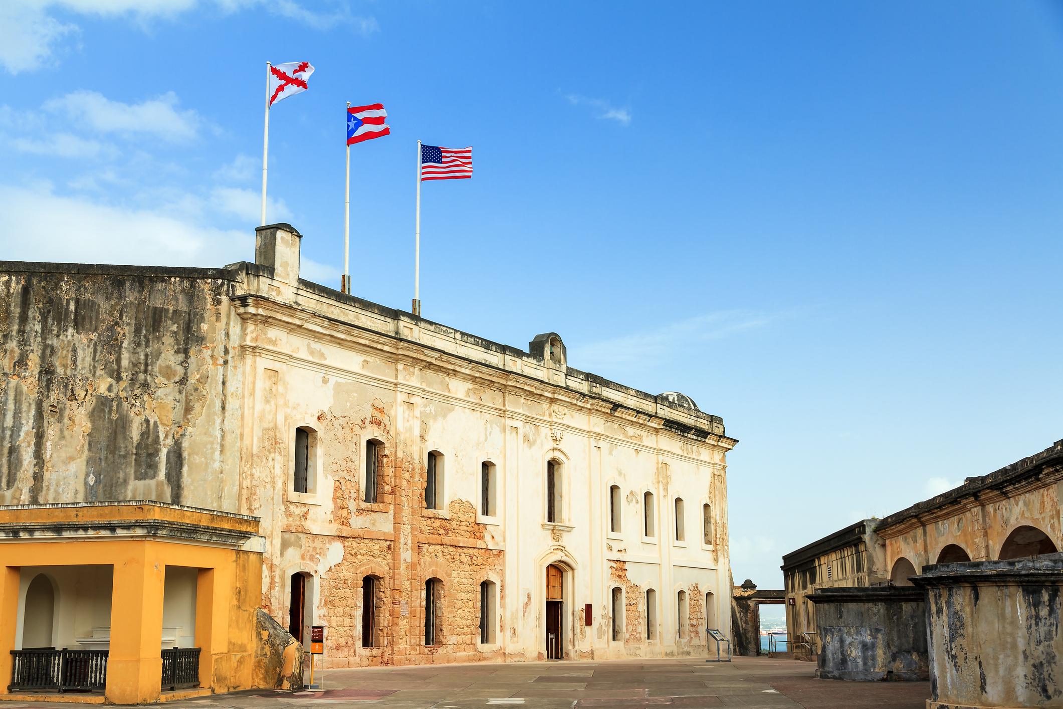 Beautiful view of fort San Cristobal in San Juan, Puerto Rico