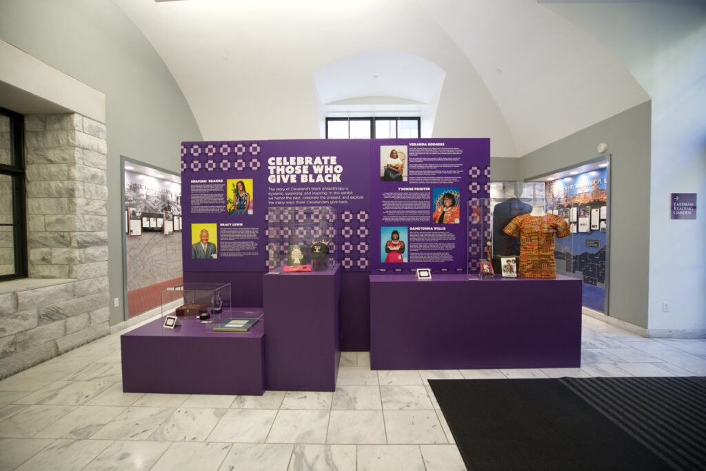 Large exhibit structure with multiple levels portraying the 2021 nominees