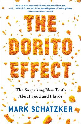 book title written in Doritos snack chips
