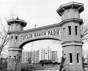 entrance of Euclid Beach Park 1972