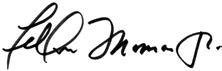 Felton Thomas, Jr. signature