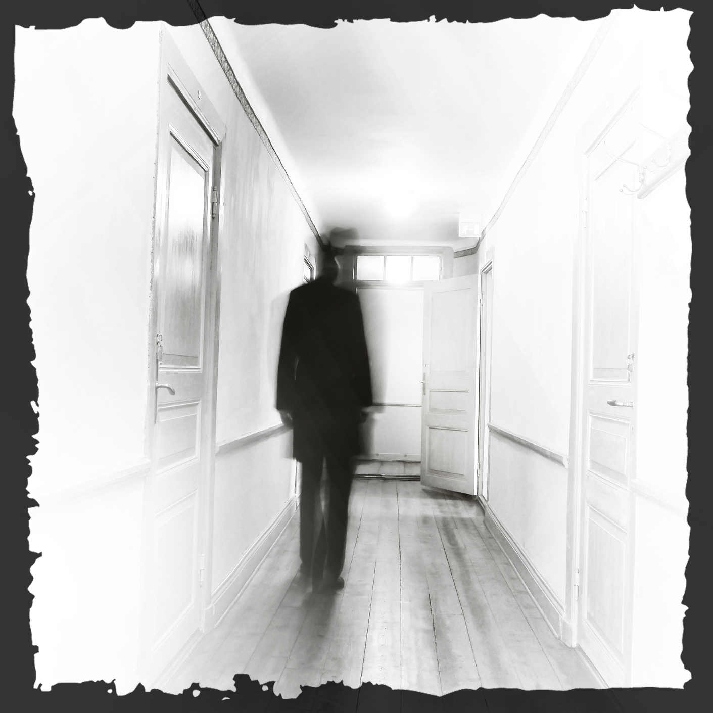 ghost in a hallway