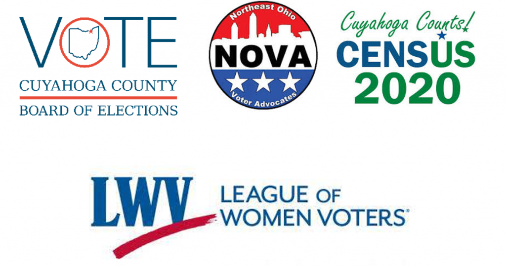 Cuyahoga Board of Elections Northeast Ohio Voter Advocates Cuyahoga Counts Census 2020 League of Women Voters
