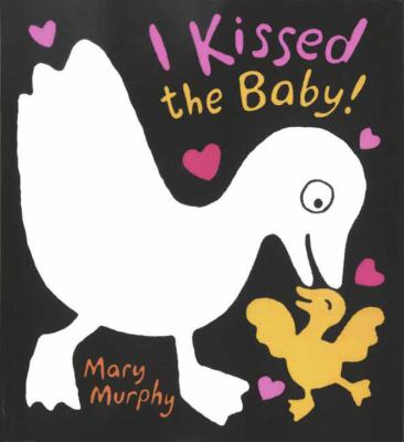 I Kissed the Baby jacket cover of a big white bird and a little yellow bird