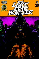 Book jacket of a monster standing behind a man