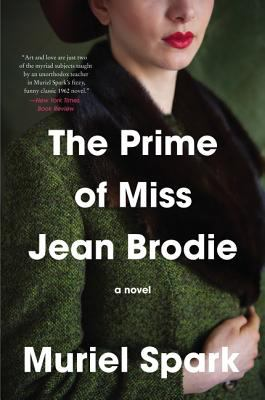 The Prime of Miss Jean Broadie book jacket with an image of a womans mouth and chin and nose down to her folded arms in her lap.