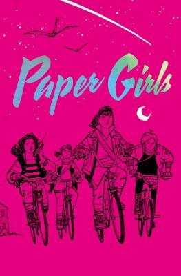Paper Girls bright pink book jacket