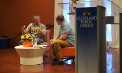Benjamin Percy Being Interviewed on Cleveland Public Library's Auditorium Stage