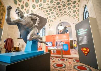 "VIsit our Superman exhibit ""From Cleveland to Krypton"" at the Main Library."